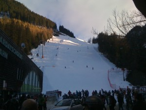 The view of Red 1 from Hotel Elisabeth Apres Ski